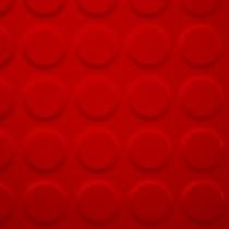 Linoleum tachón chico pasillo Rojo